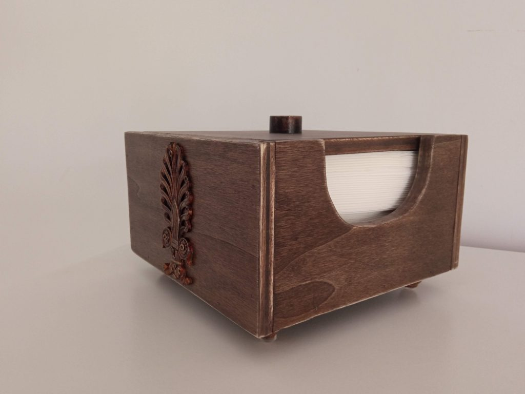 Servilletero de madera reciclada