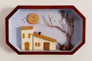 Cuadro casas miniatura