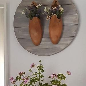 cuadro con horma de zapato